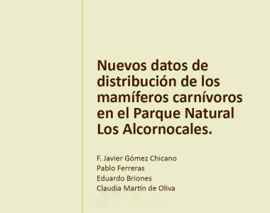 Nuevo artículo sobre mamíferos carnívoros en Los Alcornocales